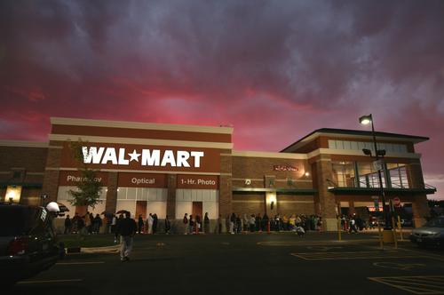 wal mart logo. Wal-Mart Wages Rollback!